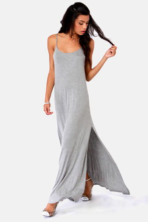 Such Great Heights Grey Maxi Dress