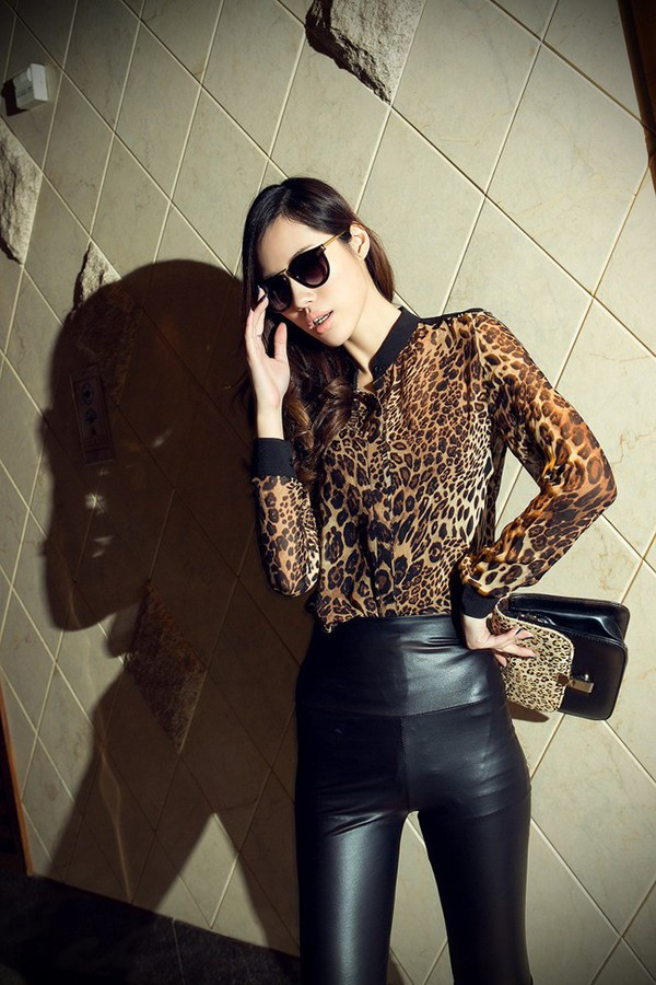 blouse causal shirt leather pants leopard print leopard shirt leopard print leopard blouse leather leggings leggings