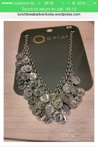 jewels necklace coin coins chain coin necklace