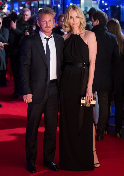 dress gown red carpet dress charlize theron black