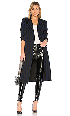 Lovers   Friends Tove Wrap Coat in Navy & Black from Revolve.com