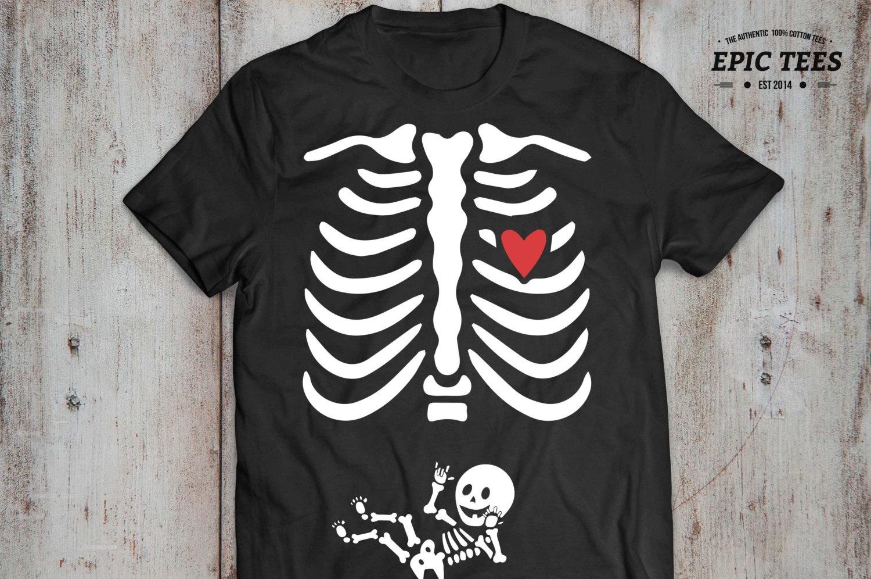 5bee989d13c1d Pregnant Shirt Skeleton, Funny Maternity Shirt, Funny