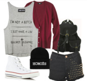 shorts,converse,beanie,cardigan,funny shirt,rhinestones,hat,tank top