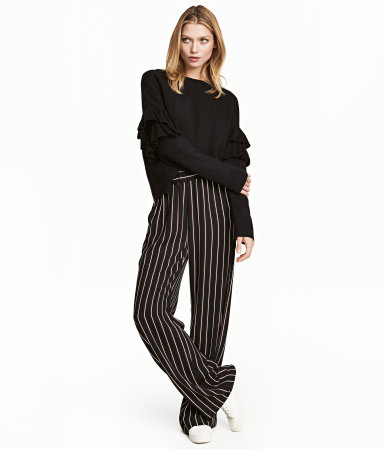 H&M Wide-cut Pull-on Pants $24.99