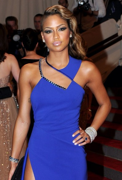 dress blue dress cassie ventura