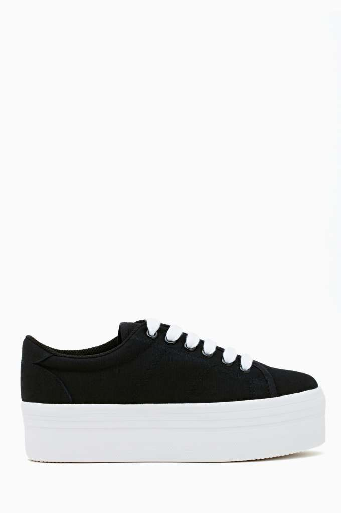 Zomg Platform Sneaker - Black & White in  Shoes at Nasty Gal