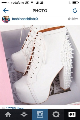 shorts white lita platform jeffrey campbell lita spiked lita shoes