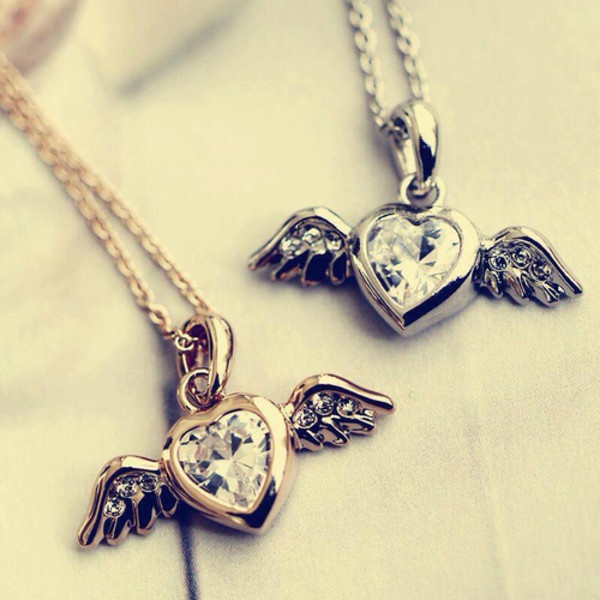 jewels wings wing neckline necklace heart heart jewelry heart jewelry heart jewelry