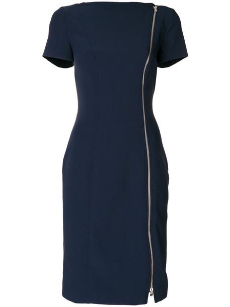 GIANLUCA CAPANNOLO dress women spandex blue wool