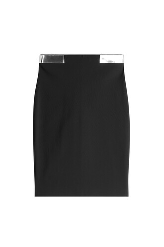 skirt pencil skirt metallic black