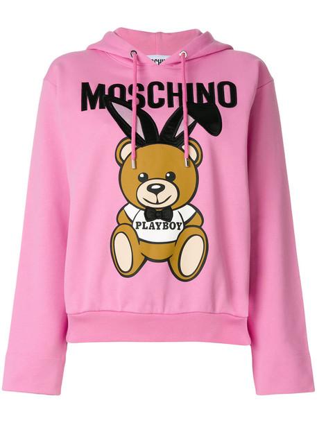 hoodie bear women cotton purple pink sweater