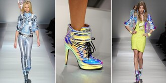shoes iridescent holographic vinyl colorful color changing jacket