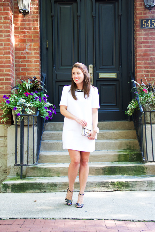sequins and stripes shoes bag make-up