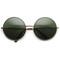 Oversize vintage inspired metal round circle sunglasses 8370