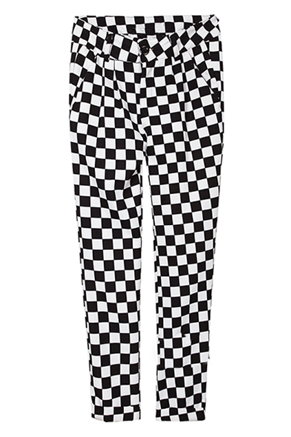 Black And White Checkerboard Trousers Fashion