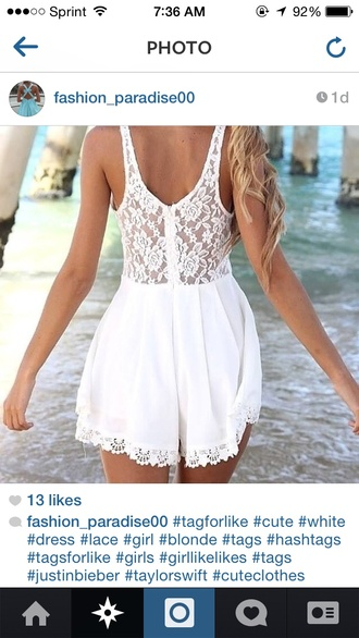 dress white dress white lace lace dress zip zipper