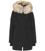 parka,fur,faux fur,black,coat