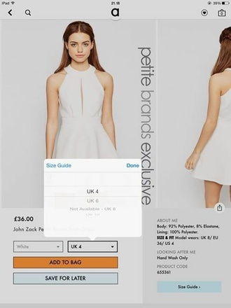 dress asos dress asos white dress mini skirt mini dress skater skirt skater dress prom dress a line prom gowns a-line dresses