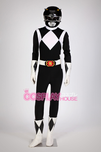 Mighty Morphin Power Rangers -- Black Ranger Cosplay Costume Version 01