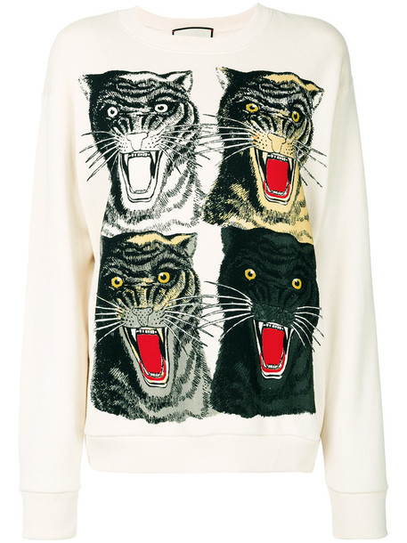 b5cdedf550a gucci Gucci - Tiger Face oversized sweatshirt - women - Cotton - M
