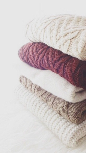 sweater cabe knit pull fall outfits knitted sweater cable knit beige cream burgundy cozy heavy knit jumper