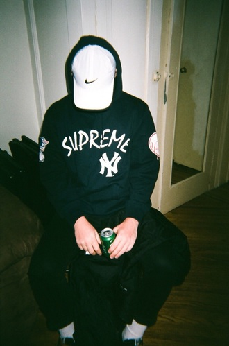 sweater supreme yankees navy hoodie