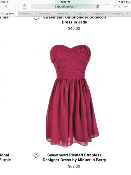 dress berry colored