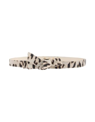 belt leopard print bow