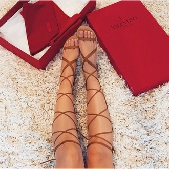 shoes valentino brown sandals gladiators knee high gladiator sandals nordstrom