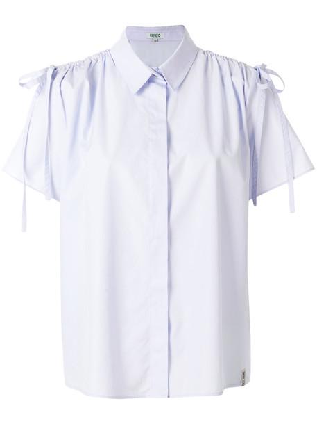 Kenzo shirt women cotton blue top