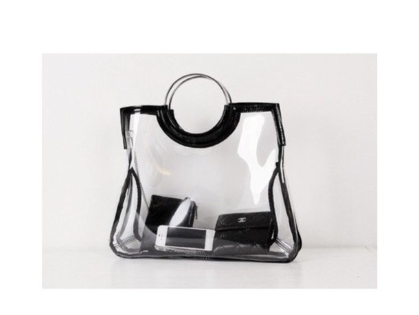 bag See through bag transparent  bag clear black chanel luxury iphone