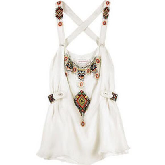 blouse dress beaded camisole aztec aztec beaded dress pattern patterned dress