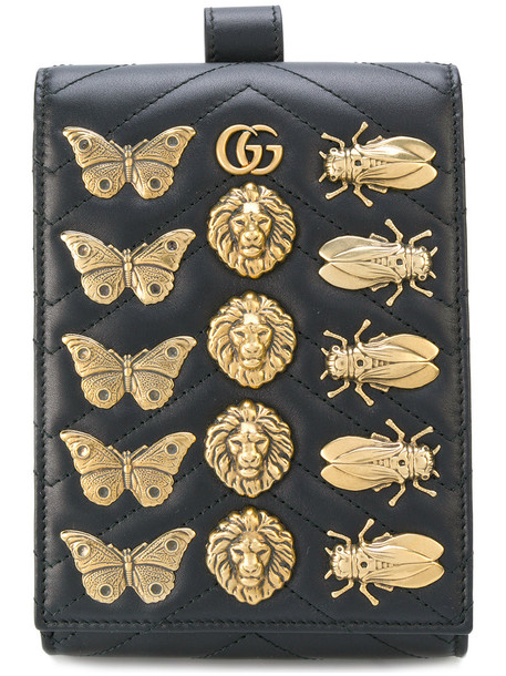 Gucci - logo embellished belt wallet - women - Calf Leather - One Size, Black, Calf Leather