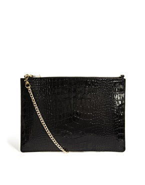 Whistles | Whistles Rivington Leather Croc Effect Cross Body Bag at ASOS
