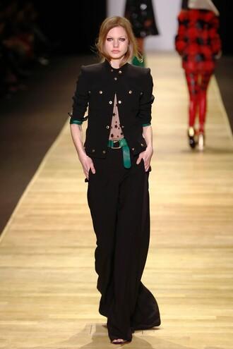 jacket top pants see through runway paris fashion week 2016 fashion week 2016 barbara bui