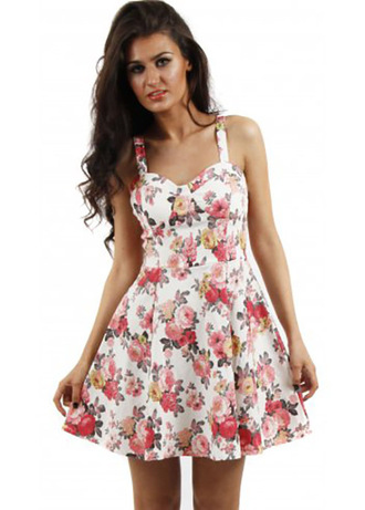 print dress rose sundress