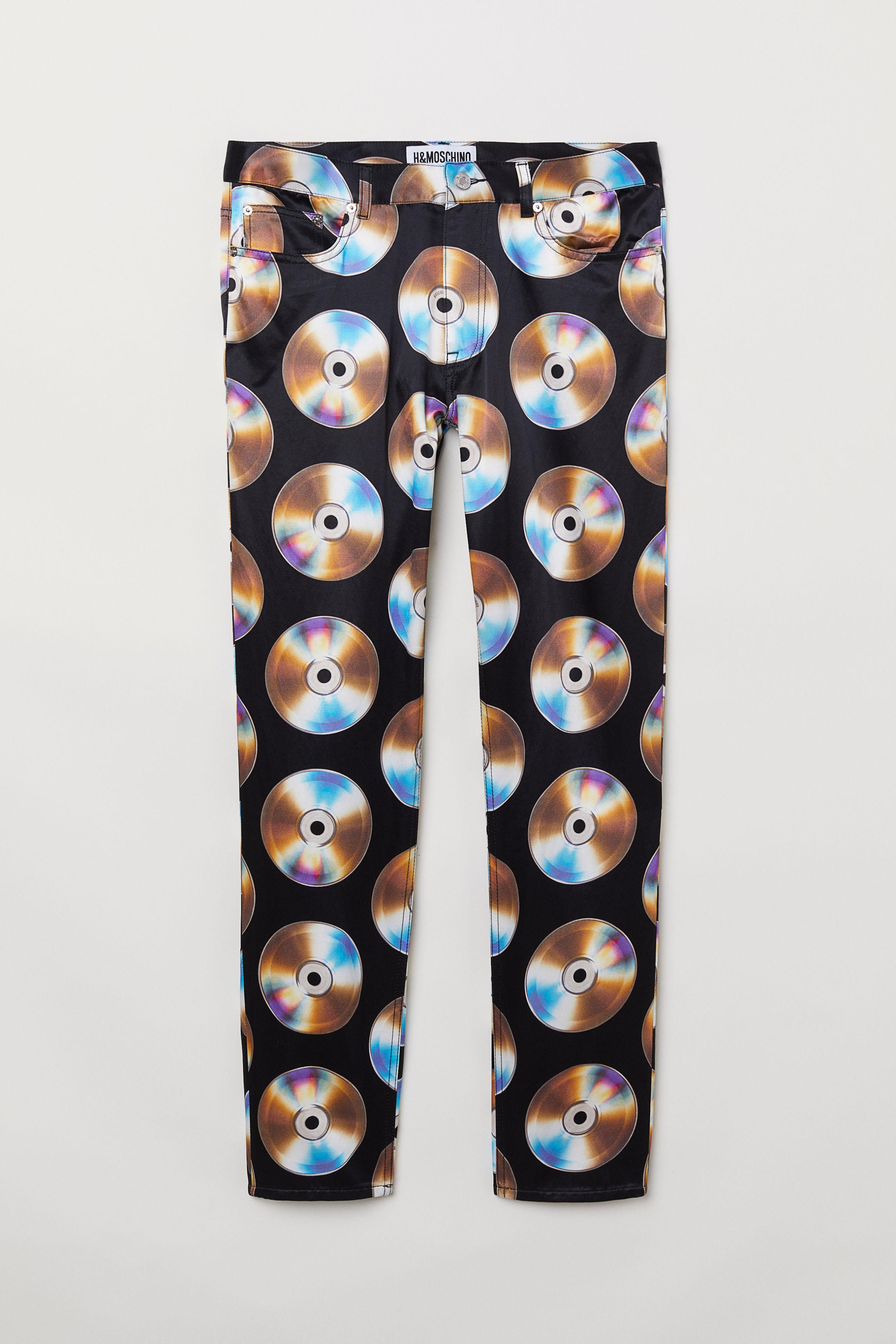 Patterned Pants - Black/CDs - Men | H&M US