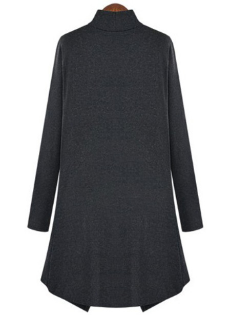 Dark Grey Long Sleeve Contrast Tweed Bodycon Dress - Sheinside.com