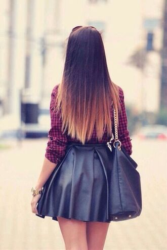 skirt black skirt skater skirt leather skirt short skirt black leather skirt flannel shirt