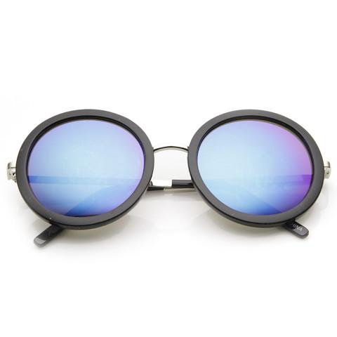 Womens Oversize Trendy Round Circle Fashion Revo Mirror Lens Sunglasse                           | zeroUV