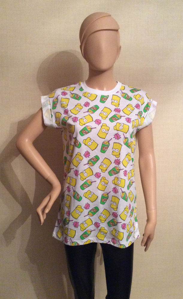 Primark The Simpsons Authentic Ladies Bart Simpson T-Shirt *BNWT* | eBay