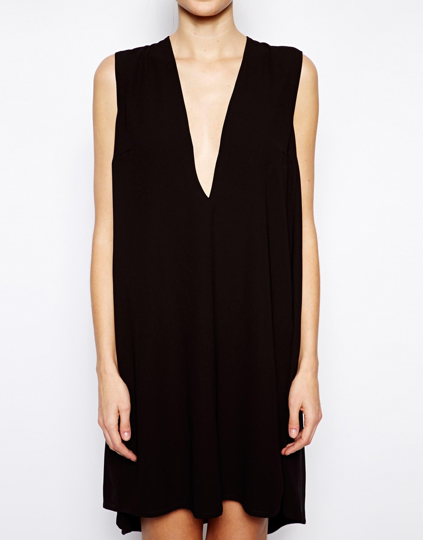 Solace London Poppy Plunge Neck Mini Dress at asos.com