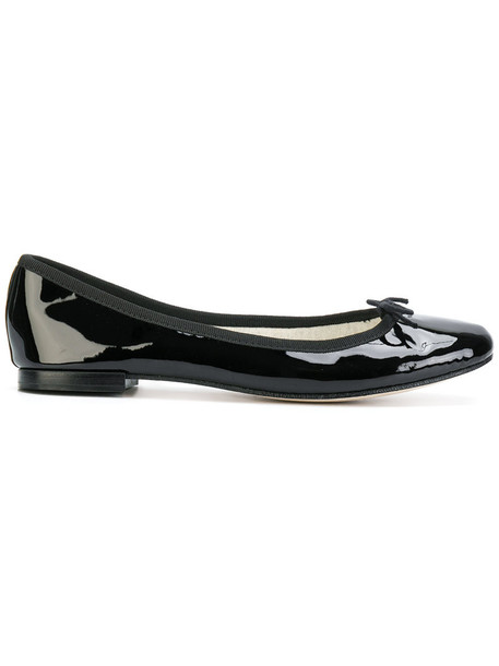 Repetto heel women leather black shoes