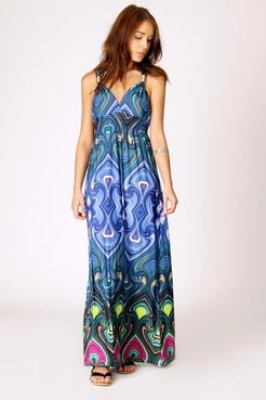 Polly swirl print maxi dress at boohoo.com