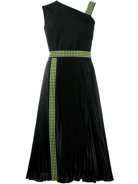 CHRISTOPHER KANE dress one shoulder dress studded women black silk
