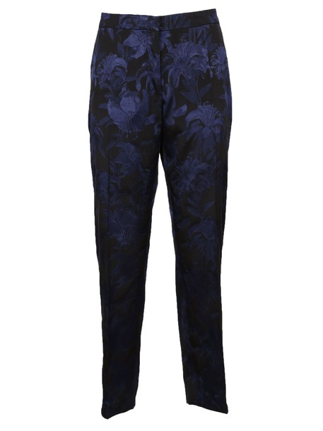 dries van noten floral navy pants