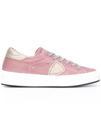 metallic women sneakers leather cotton purple pink shoes