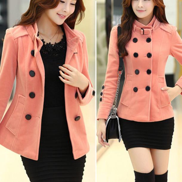 a52d3aabe37 clothes coat fashion warm winter coat warm coat top pink beautiful  beautiful girl women preppy wool
