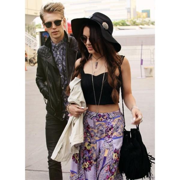 skirt vanessa hudgens maxi skirt boho hippie indie gypsy nice girly sunglasses bag jewels boyfriend omfg idc idk