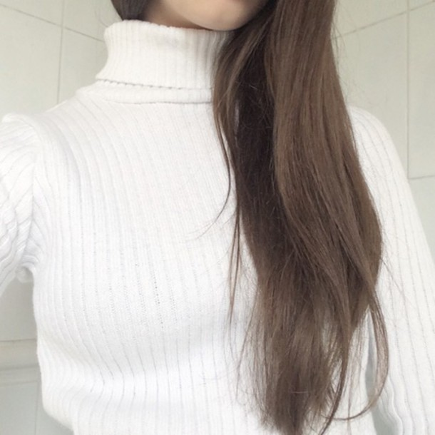 top grunge soft grunge pastel grunge pale grunge white turtleneck striped dress sweater white sweater turtleneck sweater knitted sweater